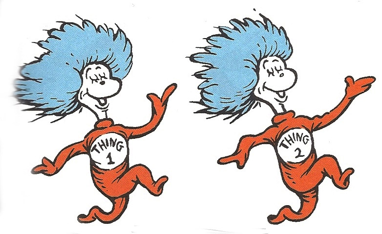 Thing 1 and Thing 2   aucourantist